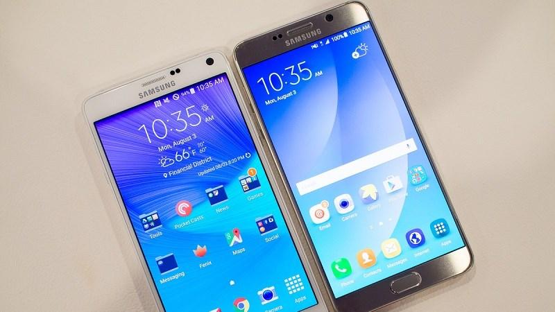 Galaxy Note 4, Note 5 nhận bản cập nhật mới