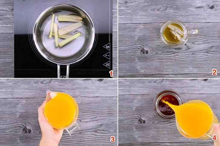 Cách làm trà đào cam sả đã khát ngày hè