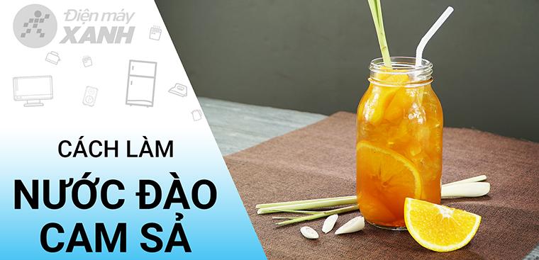 [Video] Cách làm trà đào cam sả đơn giản, ngon như The Coffee House