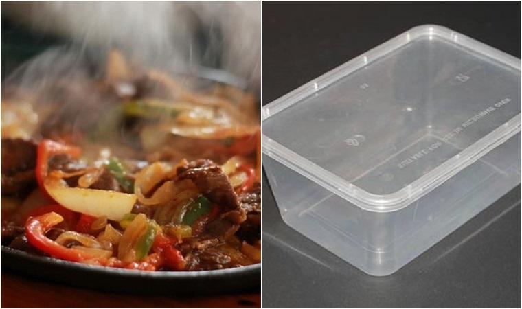 Không sử dụng hộp nhựa đựng thức ăn quá nóng