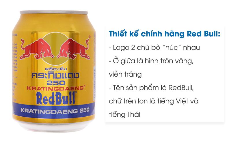 Thiết kế Red Bull chính hãng