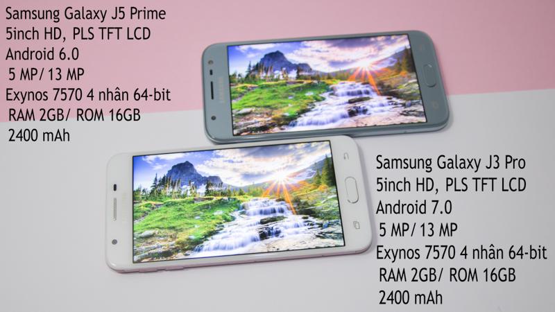 So sánh Galaxy J3 Pro và Galaxy J5 Prime: Thật khó để lựa chọn! - ảnh 1