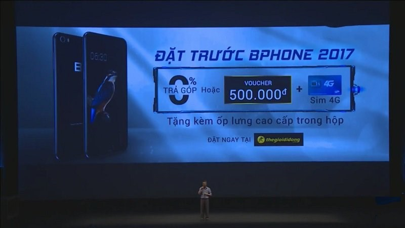 Bphone 2017 chính thức cho phép đặt hàng trước tại Thế Giới Di Động