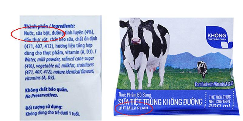 Sữa hoàn nguyên là gì?