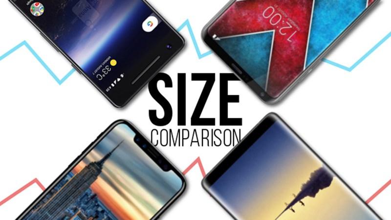 So sánh kích cỡ tổng thể của Google Pixe 2, iPhone 8, Galaxy Note 8 và LG V30 - ảnh 1