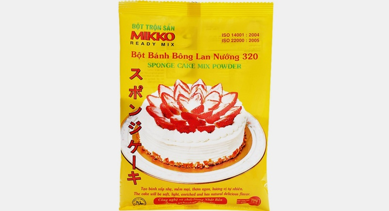Bột bánh bông lan pha sẵn Mikko