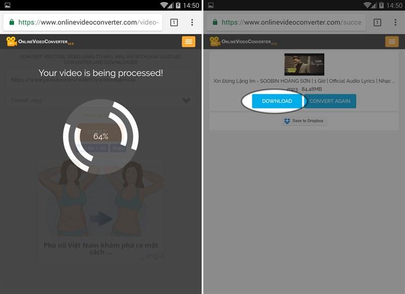 Cách tải nhạc MP3 chất lượng cao từ Youtube về điện thoại
