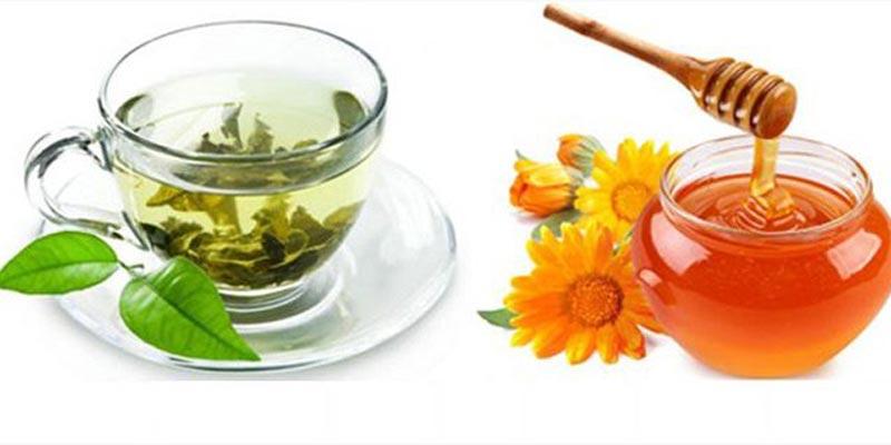 mật ong và trà