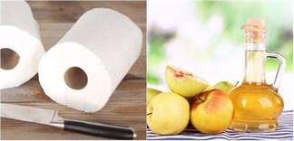 Mẹo hay lau sạch đồ dùng chỉ với giấm và cuộn giấy vệ sinh