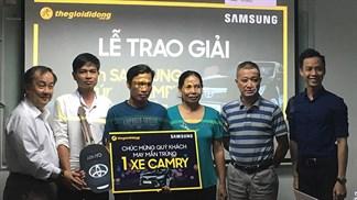 Thế Giới Di Động trao thưởng Camry 1.1 tỷ đồng cho khách mua Samsung