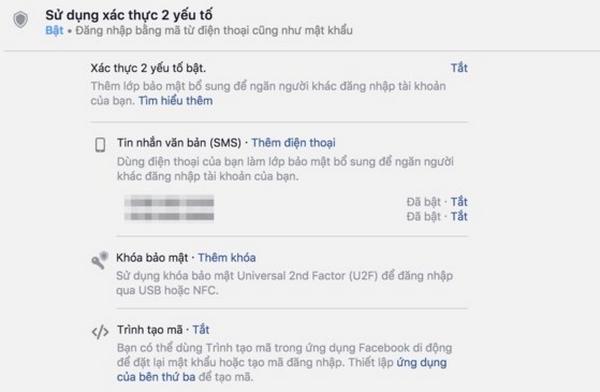 Cách tốt nhất để không bị mất tài khoản Facebook là kích hoạt tính năng xác thực hai lớp