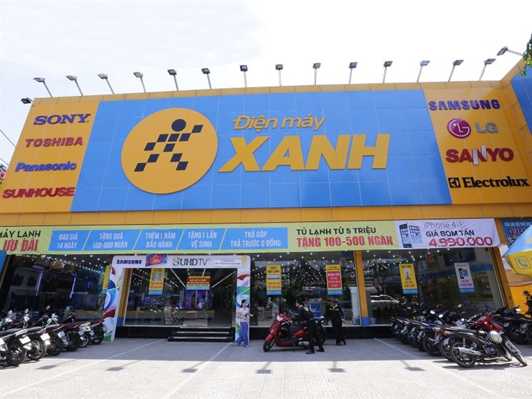 Siêu thị điện máy xanh tại 250 Nguyễn Văn Tăng, P. Long Thạnh Mỹ, Q.9, TP.HCM