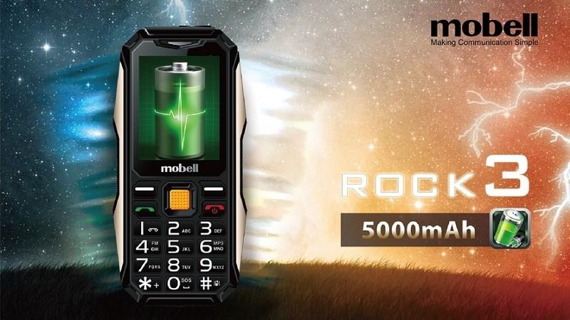 Mobell Rock 3 - Điện thoại siêu bền, pin khủng 5.000 mAh lên kệ TGDĐ với giá thơm