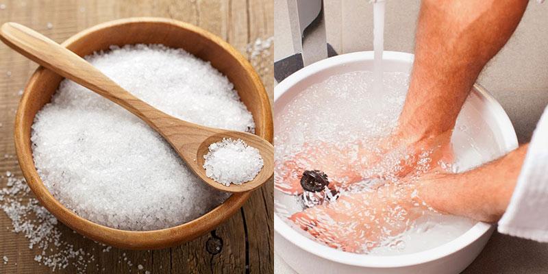 Ngâm chân bằng nước muối có tốt không?