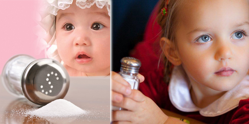 Dù ít, cơ thể trẻ luôn cần muối ở mọi độ tuổi