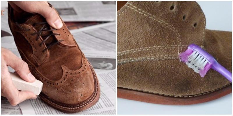 Cách làm sạch giầy da lộn nhanh chóng