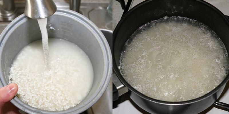 Cách nấu nước cơm cho bé