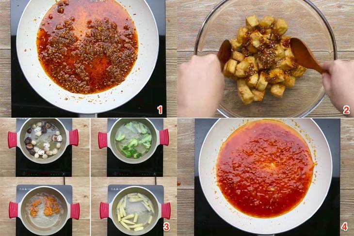 Cách làm đậu hũ sốt sa tế thơm ngon lạ miệng
