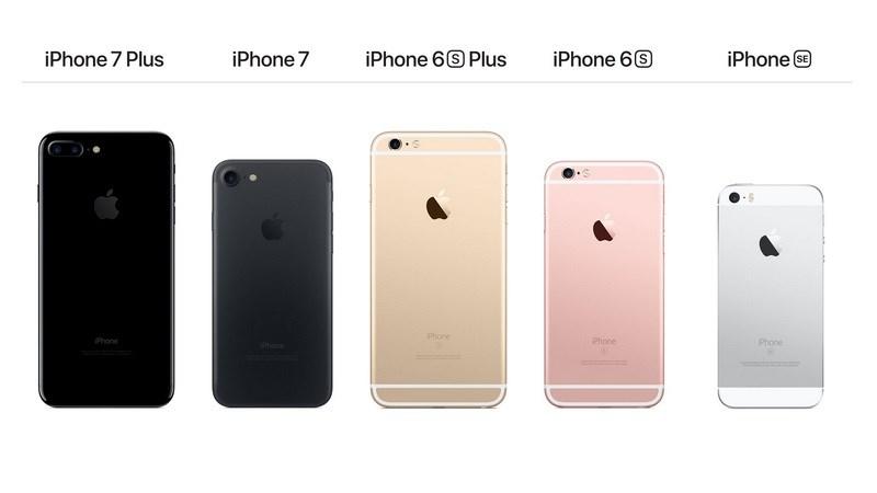 các mẫu iPhone cũ sau mẫu iPhone 2017