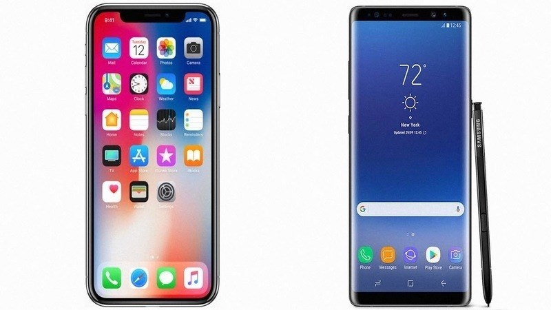 iPhone X and Galaxy Note