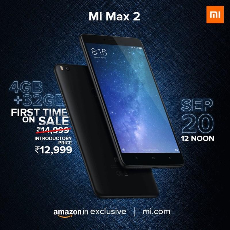 Xiaomi Mi Max 2 có thêm bản 32GB với giá 5,3 triệu - 205137