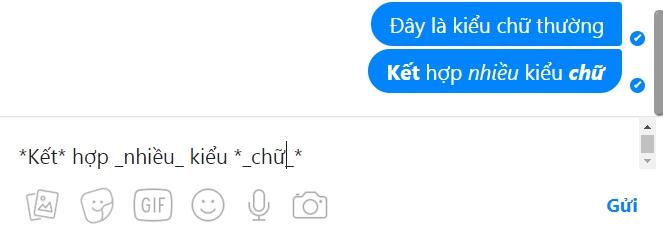 Mẹo đổi kiểu chữ khi chat Messenger,