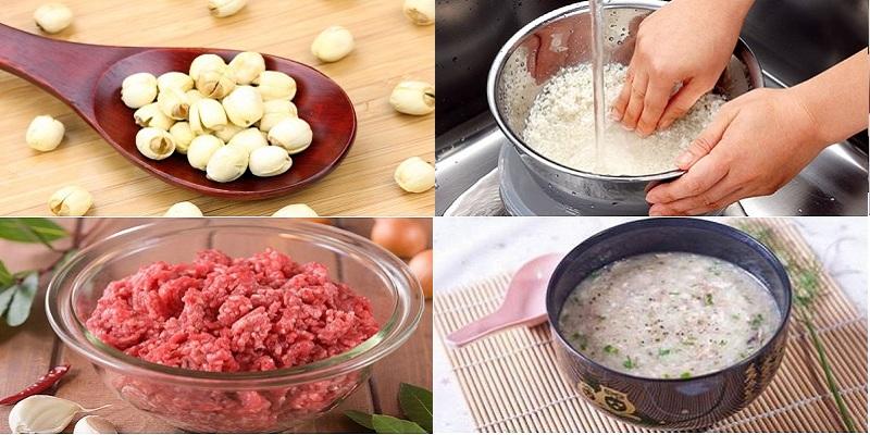 Cách nấu cháo hạt sen cho trẻ