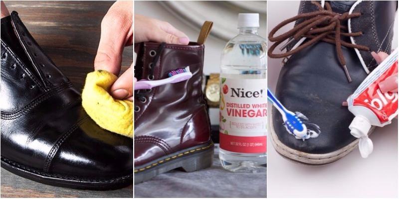 Cách làm sạch giày da bóng nhanh chóng