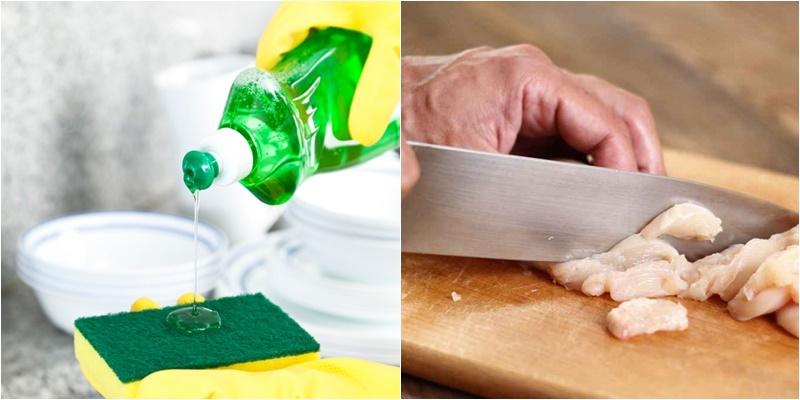 Vì sao không nên làm sạch thớt với nước rửa chén?