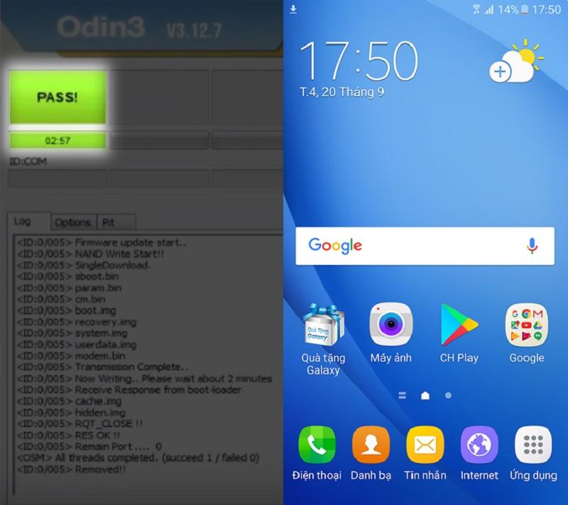 Cách hạ cấp về Android 6 0 cho Galaxy J7 Prime