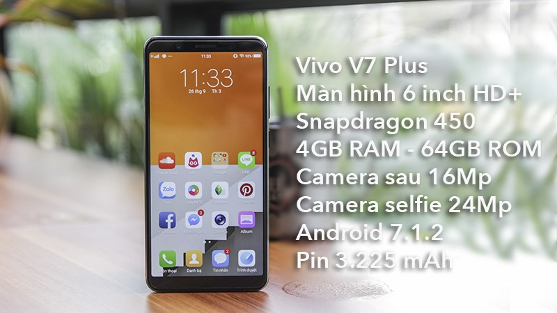 Trên tay Vivo V7+