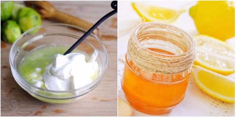 Trộn đều 3 muỗng chanh đã được bào nhuyễn với 2 muỗng sữa chua không đường, một muỗng mật ong