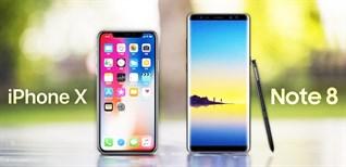 So sánh nhanh iPhone X và Samsung Note 8: ai hoàn hảo hơn?