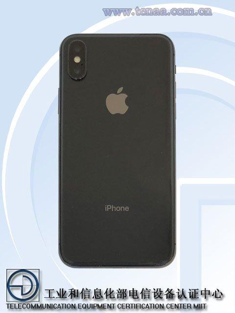 Hình ảnh iPhone X được chứng nhận trên trang TENAA
