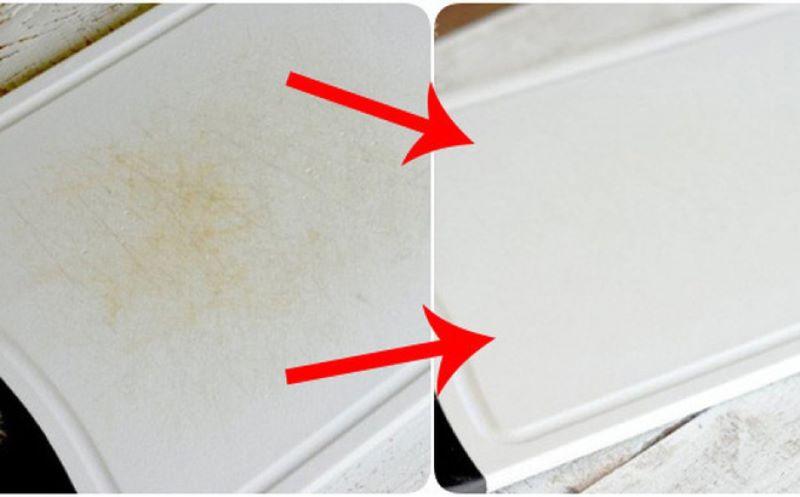 Tẩy trắng thớt nhựa bằng chanh