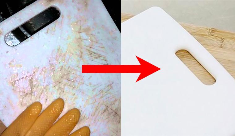 Vệ sinh thớt nhựa theo cách sau vừa trắng lại hết sạch nấm mốc