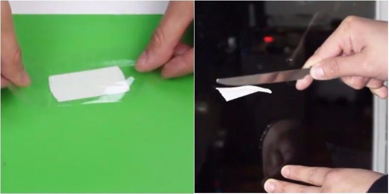 Mẹo tẩy sạch vết keo 2 mặt bám trên kính thủy tinh và đồ vật
