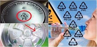 Ý nghĩa của các con số dưới đáy chai, hộp nhựa thực phẩm