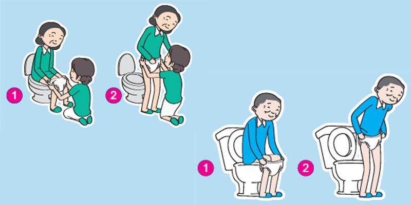 Cách mặc tã quần cho người bệnh được khuyến khích