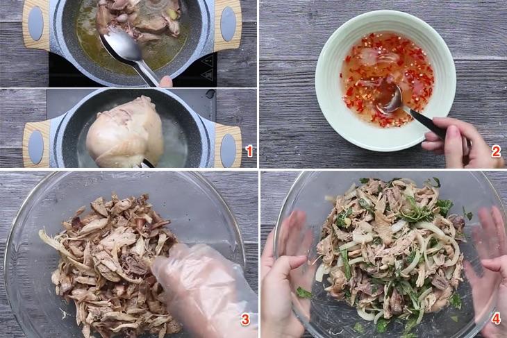 Cách làm bánh ướt lòng gà đậm đà ngày mưa