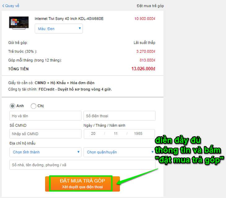 Hướng dẫn mua hàng online tại website www.trananh.vn