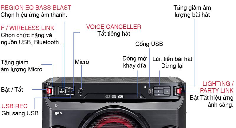 Cách dùng dàn loa LG OM4560