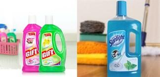 Nên chọn nước lau nhà Sunlight hay Gift?
