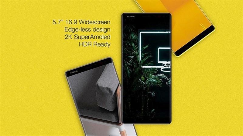 Concept: Nokia 10 với màn hình Super AMOLED HDR, camera 41MP như Lumia 1020 - ảnh 1