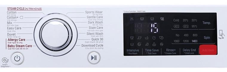 Sử dụng tính năng thêm đồ giặt