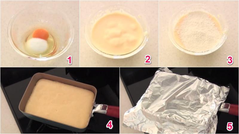 Chuẩn bị bột và nướng bánh