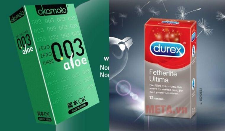 Nên chọn bao cao su Durex hay Okamoto?