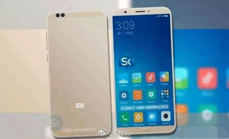 Xiaomi Mi 6C viền siêu mỏng, camera kép xuất đầu lộ diện
