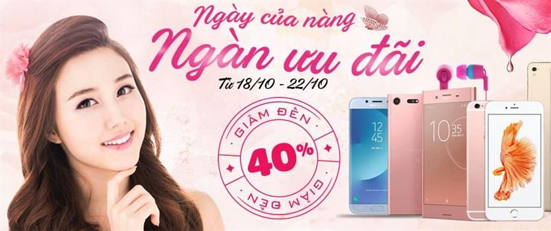 Ngày của nàng, ngàn ưu đãi: Mua smartphone, tablet, phụ kiện… giảm giá tới 40%