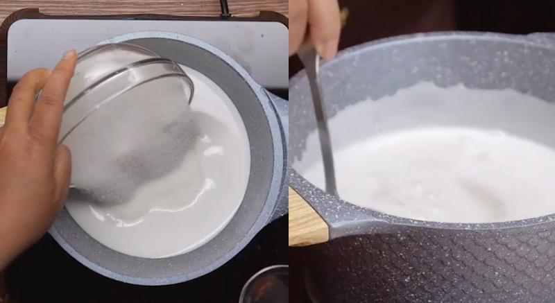 Cách làm bánh bò rễ tre chuẩn vị miền Tây bằng gói bột pha sẵn